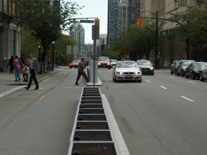 Cars and Pedestrians, but no bikes.